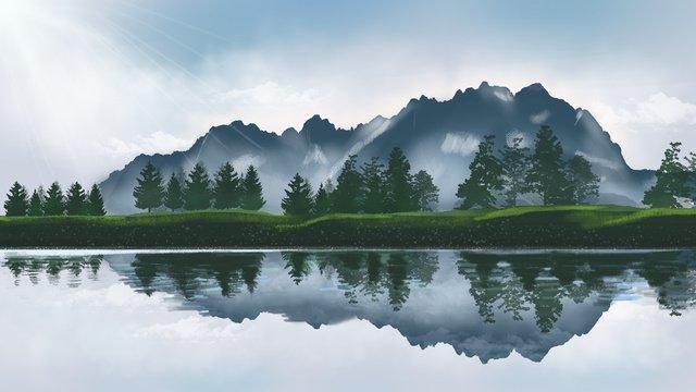वायुमंडलीय राजसी विश्व पर्यटन दिवस परिदृश्य हाथ चित्रण चित्रित किया चित्रण छवि