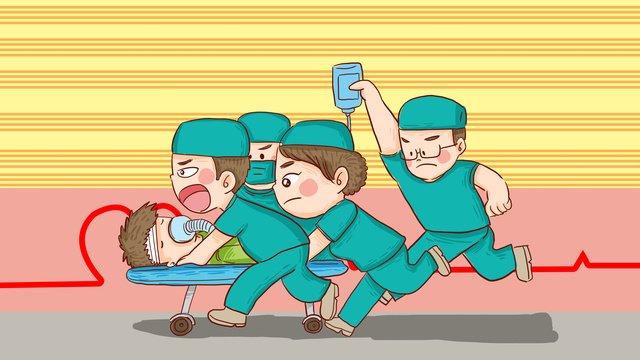 ngày đầu tiên các bác sĩ thế giới chiến đấu chống lại thời gian để giải cứu minh họa ban vẽ tay Hình minh họa