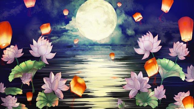 moonlight zhongyuan menikmati tanglung langit ji chengyun imej keterlaluan