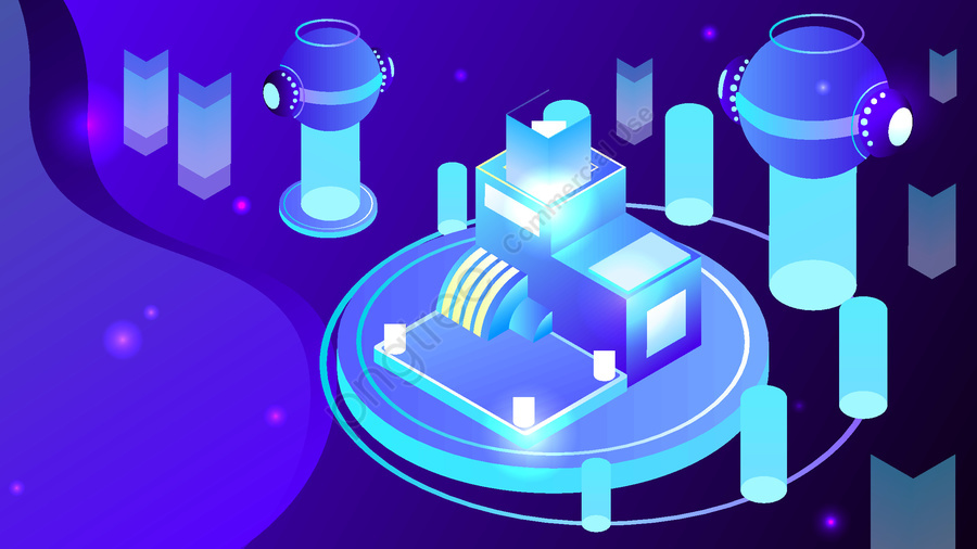 2 5d Technology Future Artificial Intelligence Vector Illustration, 2.5d, 2.5d, 25d llustration image