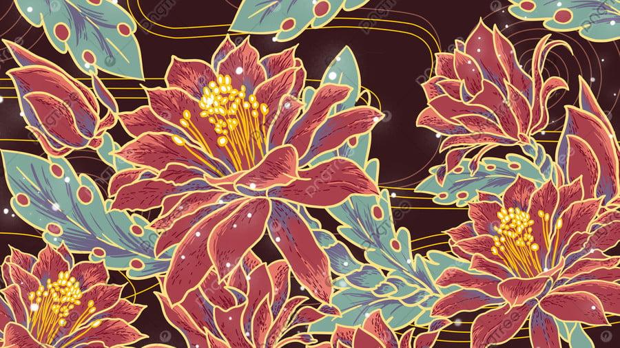 Ambilightプノンペンの熱帯の花, Ambilight, 花, トロピカル llustration image