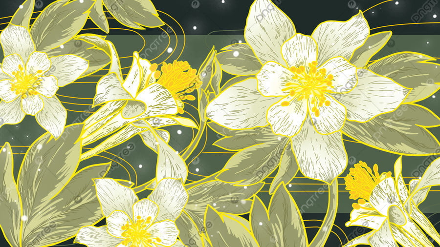 Ambilight Gilxクチナシの花のイラスト, Ambilight, ゴールデンリム, ガーデニア llustration image