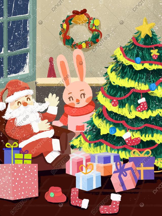 Giáng Sinh Santa Claus Món Quà Minh Họa, Giáng Sinh, Quà Tặng Giáng Sinh, Cây Thông Giáng Sinh llustration image