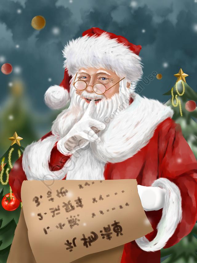 Рождественский реалистичный рождественский колокольчик Санта Клауса, рождество, реализм, Дед мороз llustration image