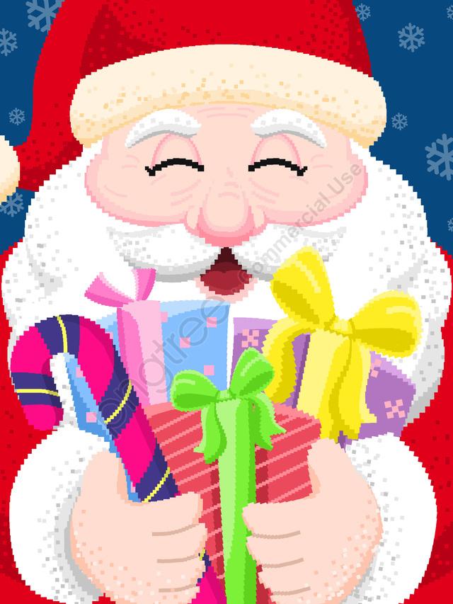 Illustration De Pixel Rétro Du Père Noël De Noël Le Père