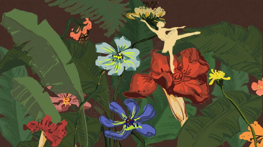 ビンテージのリアルなフラワープラントオリジナル, 元の, 花, 植物 llustration image