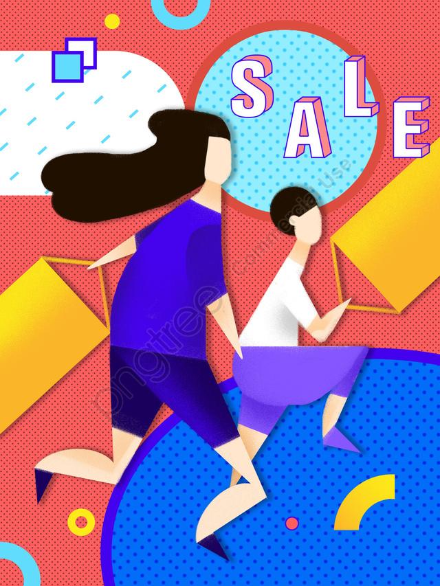 쇼핑 Taobao 진흥 일러스트레이션, 쇼핑, Taobao, 프로모션 llustration image