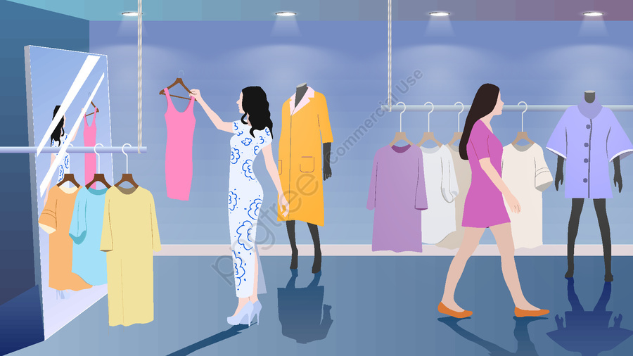 Shop shopping apparel vector illustration, Store, Clothing, Fashion llustration image