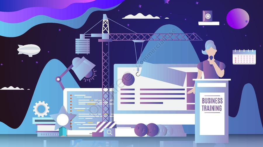 Technology future cartoon vector illustration, Technology, Jobs, Vector llustration image