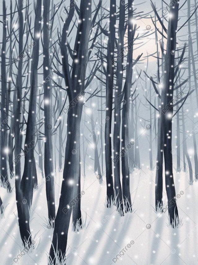 Xiaolin에서 첫 번째 겨울 눈 치료 그림, 겨울, 첫 눈, 우즈 llustration image