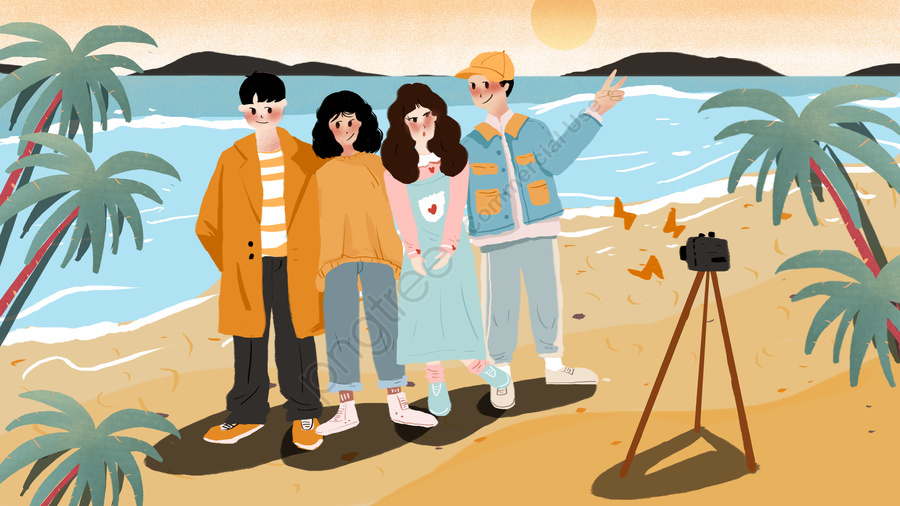世界ユースデー旅行イラスト, 世界ユースデー, パーティー, 旅行する llustration image