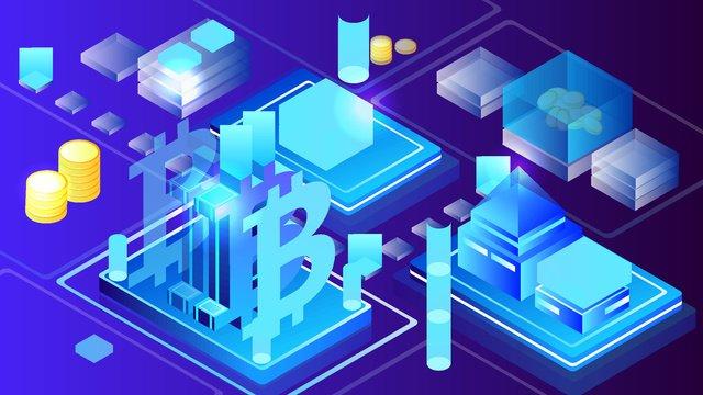 2 5d technology blue business finance bitcoin vector illustration llustration image illustration image
