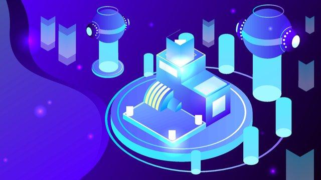 2.5d technology future artificial intelligence vector illustration, 2.5d, 2.5d, 25d illustration image