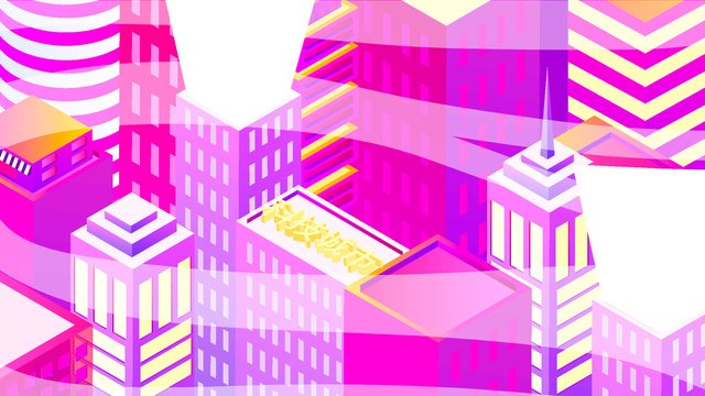 2 5d future technology city building vector illustration llustration image