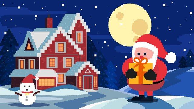 80s क्रिसमस रेट्रो पिक्सेल चित्रण चित्रण छवि चित्रण छवि