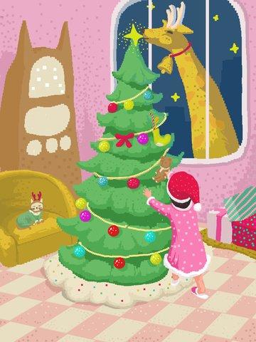 80s، retro، البيكسل، عيد ميِد، التوضيح، مزخرف، شجرة الميلاد، wallpaper الصور المدرجة