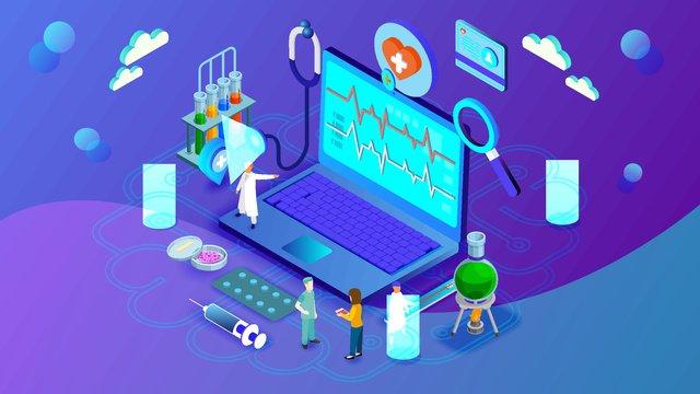 Будущая лаборатория искусственного интеллекта 2 5d Ресурсы иллюстрации Иллюстрация изображения