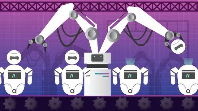 Technology future robot era, Automatic, Robot, Ai illustration image