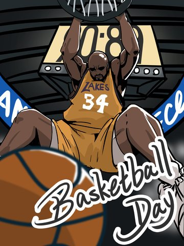 世界のバスケットボールデープレーヤーダンク漫画イラスト イラスト素材 イラスト画像