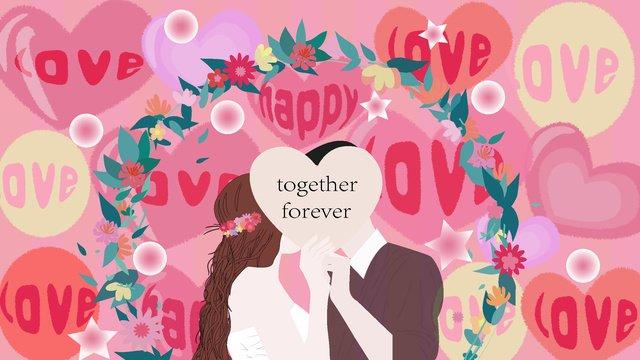 حسن، حلم، مشهد الزفاف، حب، balloon، أعطى، تعادل، illustration مواد الصور المدرجة