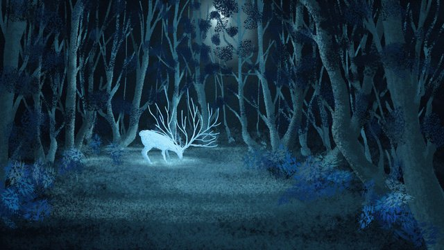Original illustration lin shen see deer, Beautiful, Original, Cure illustration image