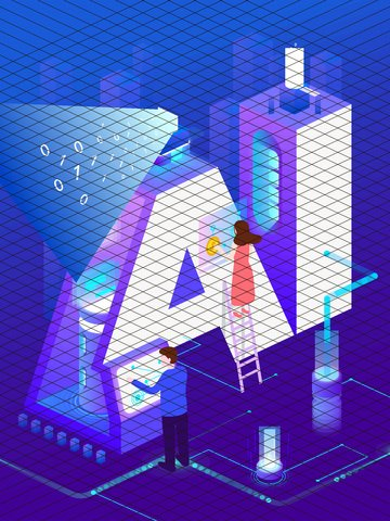 ai technology future business office 2 5d illustrator llustration image