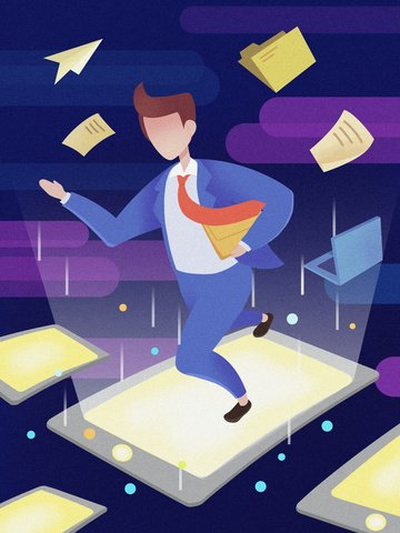テクスチャフラット風ビジネス技術招待状文字技術時代イラストポスター イラスト素材