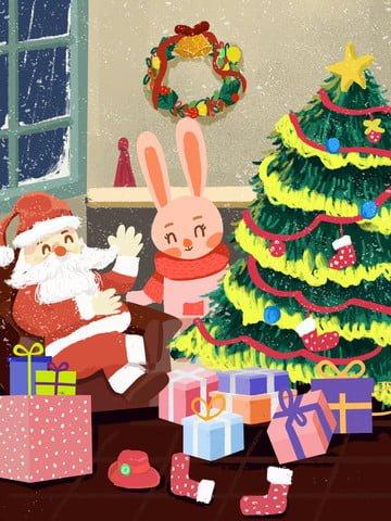 عيد الميلاد سانتا كلوز هدية التوضيح مواد الصور المدرجة