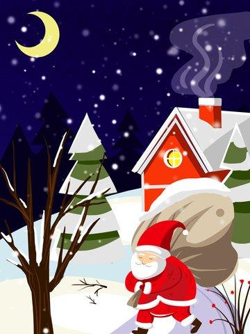 سانتا كلوز تقديم الهدايا لعيد الميلاد مواد الصور المدرجة الصور المدرجة