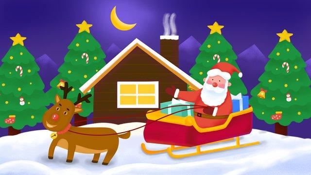 عيد ميِد، إبداعي، تصوير، بسبب، claus santa، جلسة، عن، أداة تعريف إنجليزية غير معروفة، sleigh، العطاء، الهدايا مواد الصور المدرجة الصور المدرجة