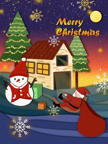 クリスマスペーパーカットスタイルambilightサンタクロースの図 イラスト素材