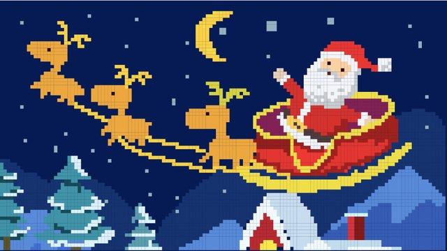 크리스마스 80 픽셀 바람 그림 삽화 소재 삽화 이미지