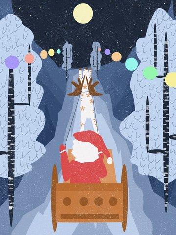عيد الميلاد سانتا كلوز التوضيح الأصلي صورة llustration
