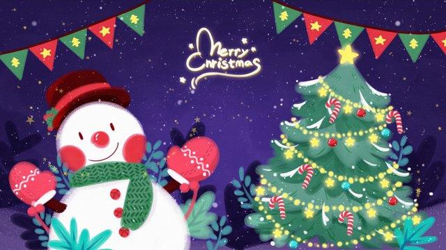 عيد الميلاد موضوع التوضيح ثلج شجرة مواد الصور المدرجة
