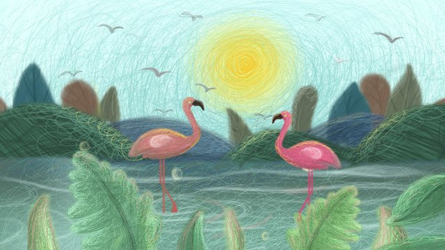 Healing the bird in coil water, Coil, Cure, Plant illustration image