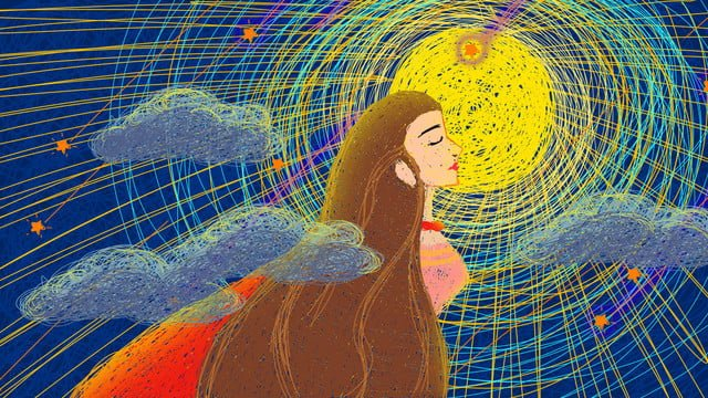 Healing coil illustration illustrator moon goddess, Coil Illustration, Healing, Moon illustration image