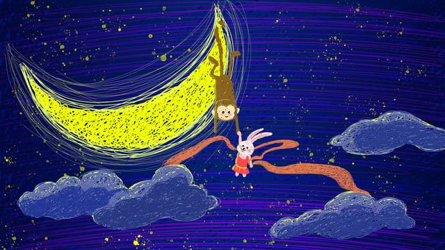 Night tour starry warm heart coil illustration, Coil Illustration, Night, Starry Sky illustration image