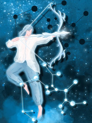 Sagittarius constellation, Constellation, Sagittarius, Shooter illustration image