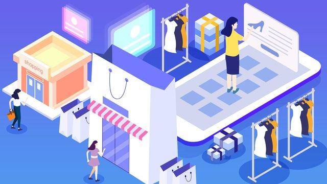 2 5d 쇼핑몰 삽화 소재 삽화 이미지
