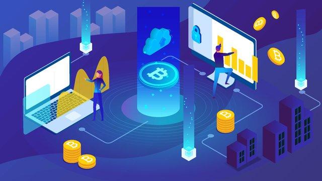 Minh họa tài chính bitcoin 25d blue gradientTài  Chính  Bitcoin PNG Và Vector illustration image