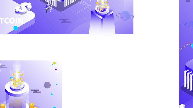 Small fresh purple gradient financial bitcoin 2.5d illustration, Financial Bitcoin, Financial, Bitcoin illustration image