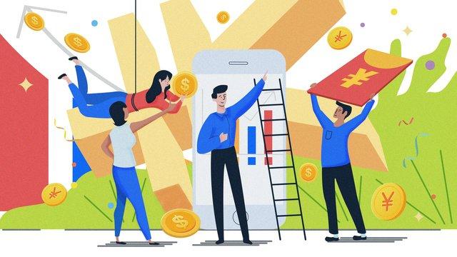 Финансовый менеджмент красный конверт шум иллюстрации Ресурсы иллюстрации Иллюстрация изображения