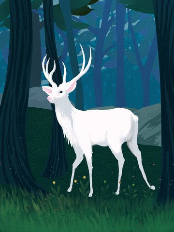 Lin shen sees the deer healing system illustration, Forest, Healing, See The Deer When Lin Shen illustration image