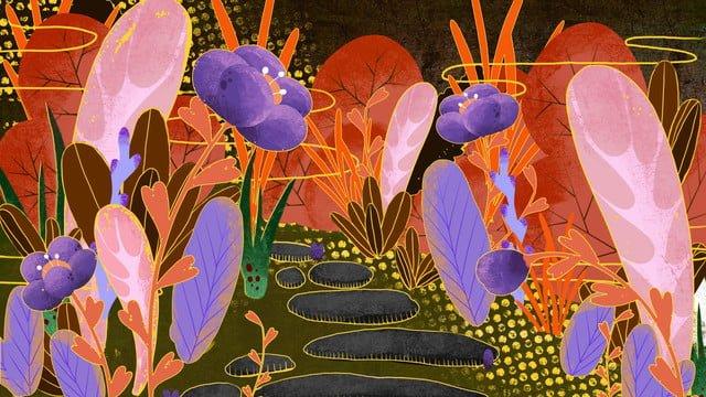ambilight золотое цветочное растение Ресурсы иллюстрации
