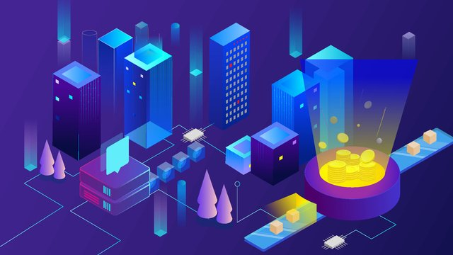 Gradient 2.5d artificial intelligence technology illustration ai, Gold, Building, Server illustration image