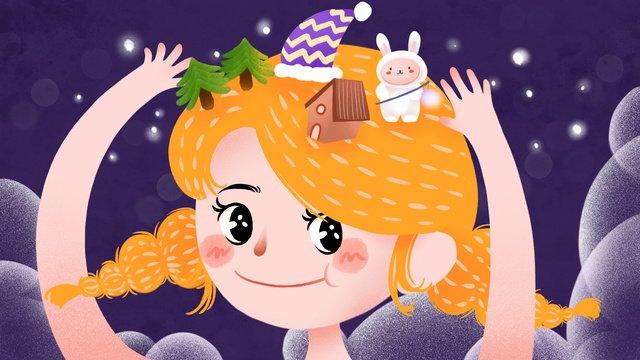 спокойной ночи сон на ночь снаночь  мечта  прекрасный PNG и PSD illustration image