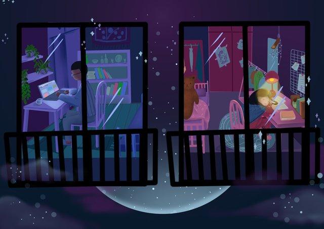 Good night heart wish, Good Night, Hello There, Night Sky illustration image