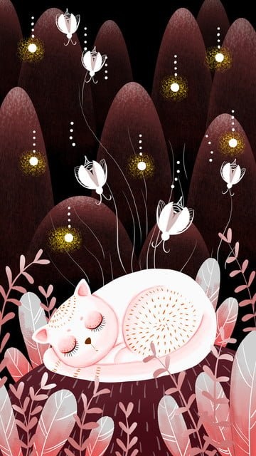 Good night world small fresh forest healing system illustration llustration image