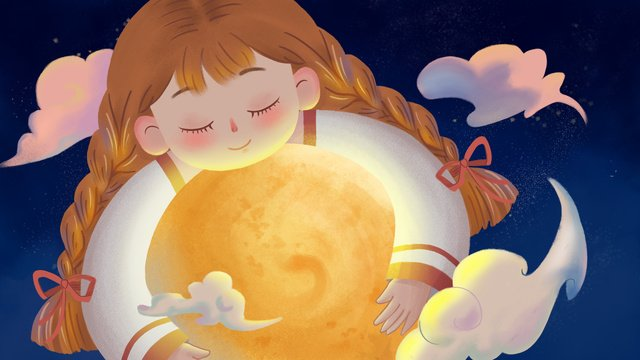 moon star girl goodnight healing system illustration imej keterlaluan imej ilustrasi