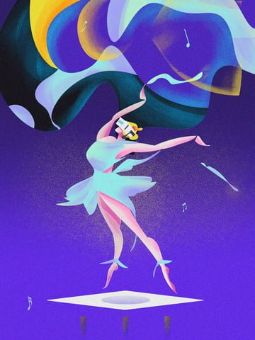 Gradient illustration vr virtual reality technology future dancer vector llustration image